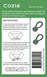 Cozia Shirt Collar Extenders Metal Button Extenders for Dress Shirts & Pants 12-Pack