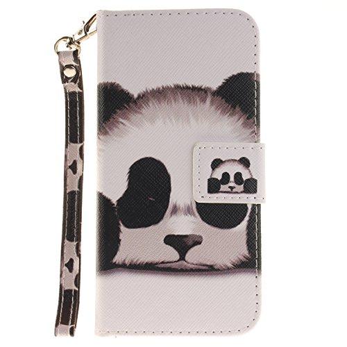 Für iphone 6 Plus Hülle Leder ,SKYXD Netter Panda Muster Klapphülle PU Folio Ledertasche Schutzhülle Trageschlaufe Magnetverschluss Kartenfächer Brieftasche Standfunktion Handyhülle mit [Eule Staubste