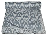 Vedant Designs Indian 100% Cotton Fabric Decorative Hand Block Print Sewing Craft By Ikat Print (30 Yard, Gray)