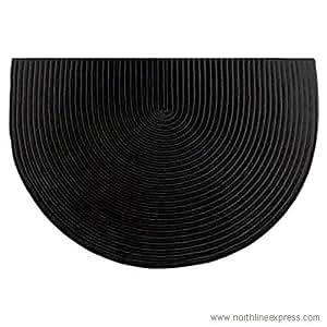 Amazon Com Woodeze 46 Quot Half Round Black Solid Color