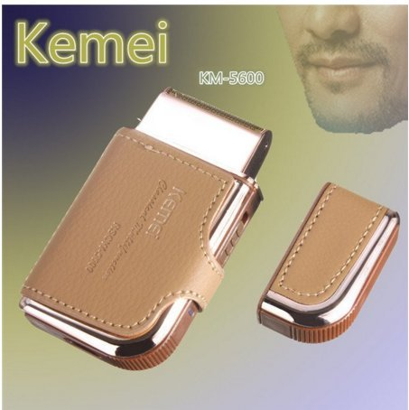 Electric Shaver Razor Vintage Leather Portable Men Rechar...