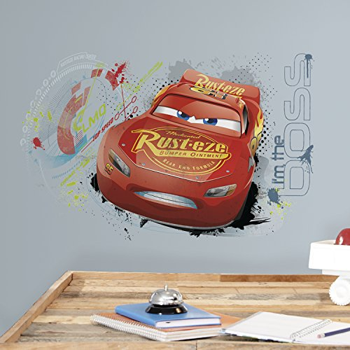 RoomMates RMK3465GM Disney Pixar Lightning Mcqueen Peel and Stick Wall Graphic (Pixar Set Decal)