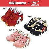 ミキハウス MIKIHOUSE×ミズノ MIZUNO コラボレーション ベビー用靴(2ndシューズ)ピンク