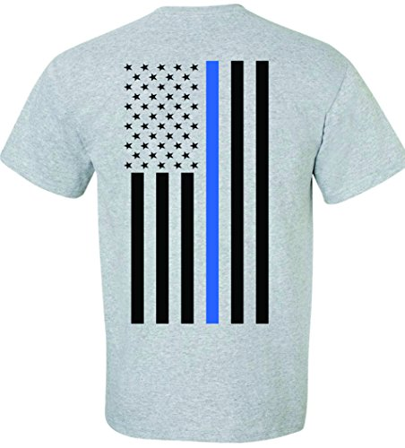 Patriot Apparel Thin Blue Line Some Gave All Police Tee T-Shirt Honor Hero Officer Short Sleeve Design (2X-Large, Sport -