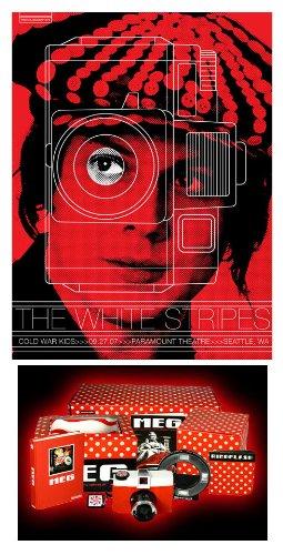 Jack White Seattle cartel y Meg cámara lomográfica Edición ...