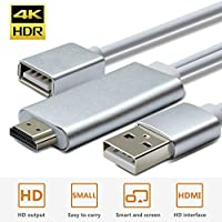 Wsky HDMI Adapter Cable, HD 1080P VGA to HDMI Video and Audio Video Converter Adapter for Projectors, HDTVs, Monitors, Compatible with iPhone, iPad, Android