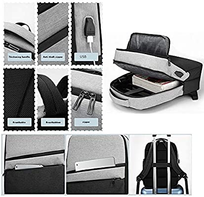 d3fa0b569037 Goddesslili Laptop Large Backpack Anti-theft Waterproof with USB ...