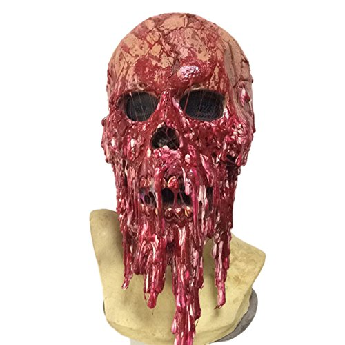 Wansan Corpse Overhead Mask Halloween Masks Horror Bloody Face Professional Costume for Party