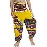 Full Funk Rayon Smock Waist Child Lounging Pants in Mixed Artworks
