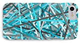 iPhone 8 Slim Case ''Link - Turquoise And Gray Abstract'' by Pixels