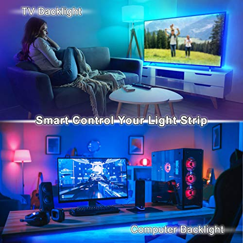 Konxie Smart WiFi RGB/GRB LED Controller, Compatible with Alexa/Google Assistant, for 5050/3528 LED Strip Light, Have 24 Key Remote Control,Support Android iOS System