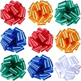 Bememo 10 Pieces 9 Inch Gift Pull Bows Wrap Bow Ribbon for Bows, Gift Wrapping and Decoration (Color Set 1): more info