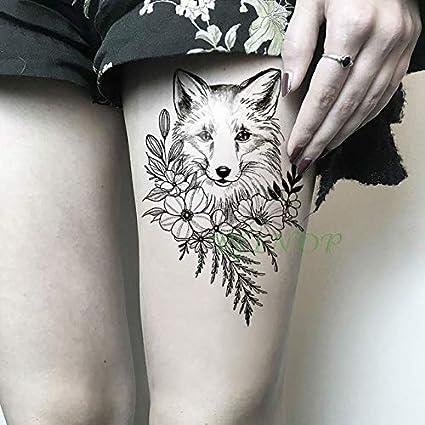 HXMAN 5 Unids Impermeable Tatuaje Temporal Pegatina Lobo Fresco ...