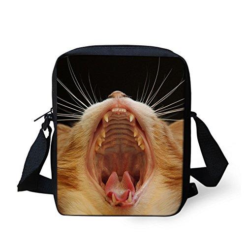 HUGS Y Kitten CC3047E femme IDEA pour bandoulière Sac petit chat Noir rf6Brwqx
