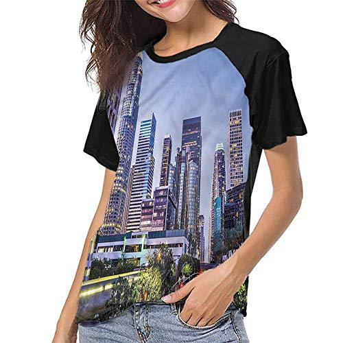 T Shirt Print Girls Tee,City,California Avenue Trees S-XXL T Shirt Print Short Sleeve -