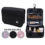 Travel Hanging Cosmetic Pouch Toiletry Bags Business Handbag Waterproof Organizer Portable Storage Bag, Black
