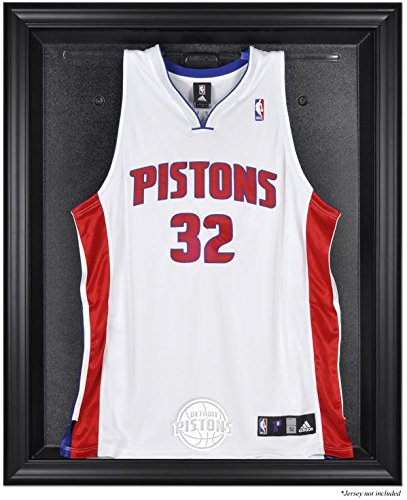 Detroit Pistons Brown Framed Logo Jersey Display Case - Browns Case Logo Display
