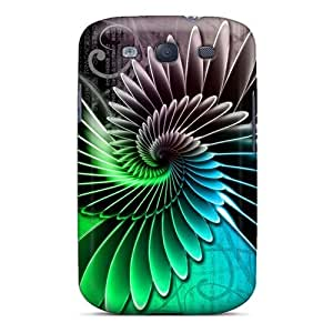Durable Defender Case For Galaxy S3 Tpu Cover(fractal)