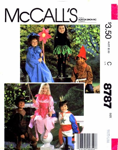 McCall's 8787 Princess Flower Elf Gnome Prince Robin Hood Costumes Sewing Pattern Size 6 - 8 ()