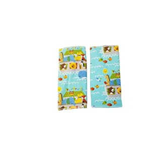 Blue Noah's ark Drool Suck Pads fits Carriers Such as tula,lilliebaby,Ergo