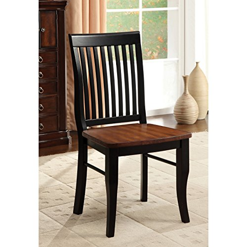 Metro Shop Furniture of America Nora Two-tone Solid Wood Slat-back Dining Chairs (Set of 2)