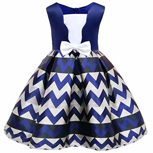 Pink Stripe One Shoulder Dress - Girls Princess Dress Toddler Pageant Stripe Party Dresses Age 2-9