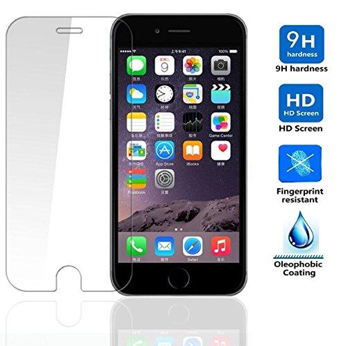 "REY Protector de Pantalla para iPhone 6 6S 4.7"" Cristal Vidrio Templado Premium 2"