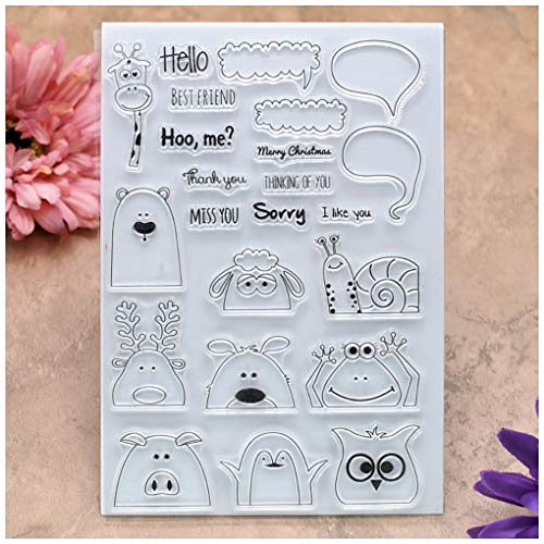 Kwan Crafts Post Card Postage Stamp Clear Stamps for Card Making Decoration and DIY Scrapbooking