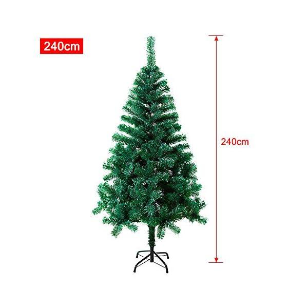 Mctech, albero di Natale artificiale, colore: verde, PVC, 240 cm 2 spesavip