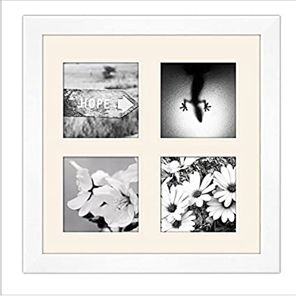 Amazon.com: White Matted Instagram Collage Photo Frame - Four 4\