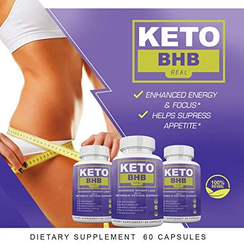 Keto BHB Real - Advanced Weight Loss wqth Metabolic Ketosis Support - 60 Capsules - 30 Day Supply 6