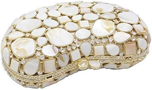 JIA JIA A Forma di Cuore Banchetti Pacchetto Seashell Tempestato di Diamanti Pacchetto Cena Sera Pacchetto del Sacchetto di Mano 18 * 11 * 5cm Splendente