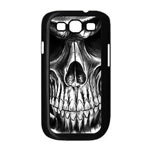 JFLIFE Artistic Skull Phone Case for samsung galaxy s3 Black Shell Phone [Pattern-1]