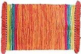 Bright Fiesta Chindi Rug 30″x48″ (Orange) Review