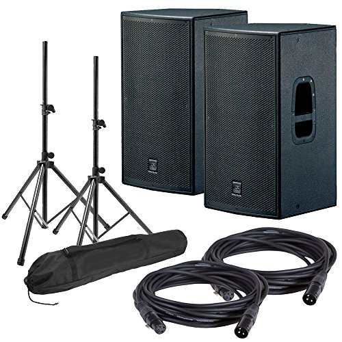 DAS Action 15A Powered Speakers w/ Stands & Cables