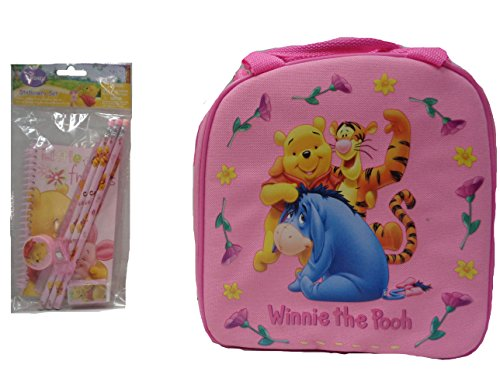 - Cute Winnie the Pooh Lunch Box and Stationary Set