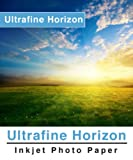 Ultrafine Horizon Professional Grade Photo Quality Luster Inkjet Paper 10.2 Mil 260g 8.5 x 11 / 100 Sheets