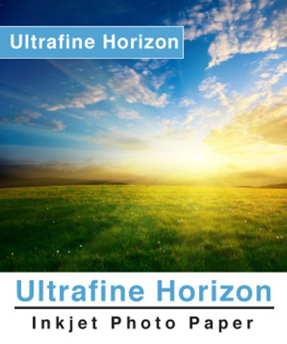Ultrafine Horizon Professional Grade Photo Quality Glossy Inkjet Paper 10.2 Mil 260g 17 x 22 / 100 Sheets by Horizon