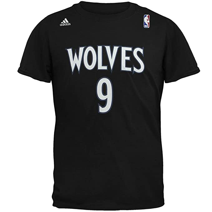 ea62ad84304e Amazon.com   adidas Ricky Rubio Minnesota Timberwolves NBA Men Black  Official Player Name   Number Jersey T-Shirt (M)   Sports   Outdoors