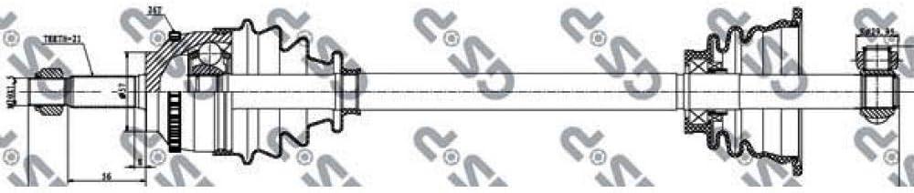 GSP 250004 Drive Shaft