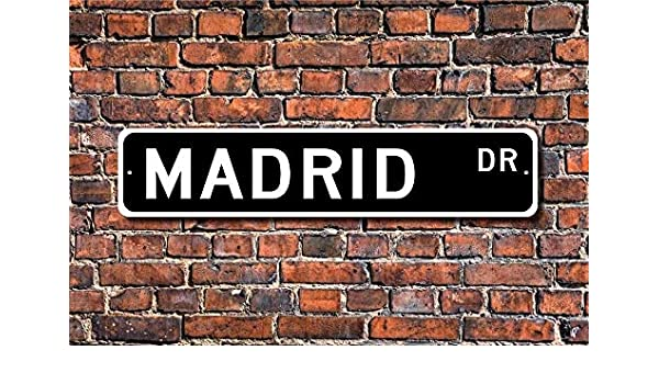 Cartel de Madrid con Texto en inglés Madrid Visitor Souvenir City ...