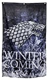 """Calhoun Game of Thrones Wall Banner (30"""" by 50"""") (Stark Winter Is Coming)"""