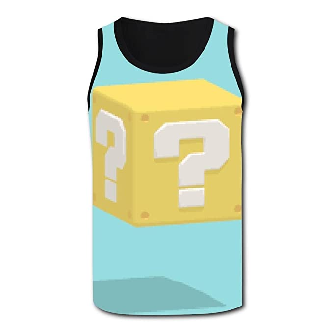 92f65b859f7 Men's Tank Top Question Mark Rubiks Cube Vest Shirts Singlet Tops Sleeveless  Underwaist Football at Amazon Men's Clothing store: