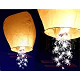 Event Lanterns Eco Friendly Shooting Star Sparkler Sky Lanterns (Pack Of 10) White by Event Lanterns