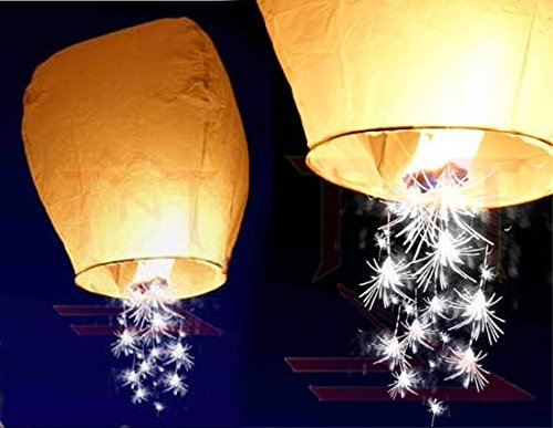 10pc White Shooting Star Sky Lanterns, The Original from TnT Sales by Sky Lanterns, TnT Sales