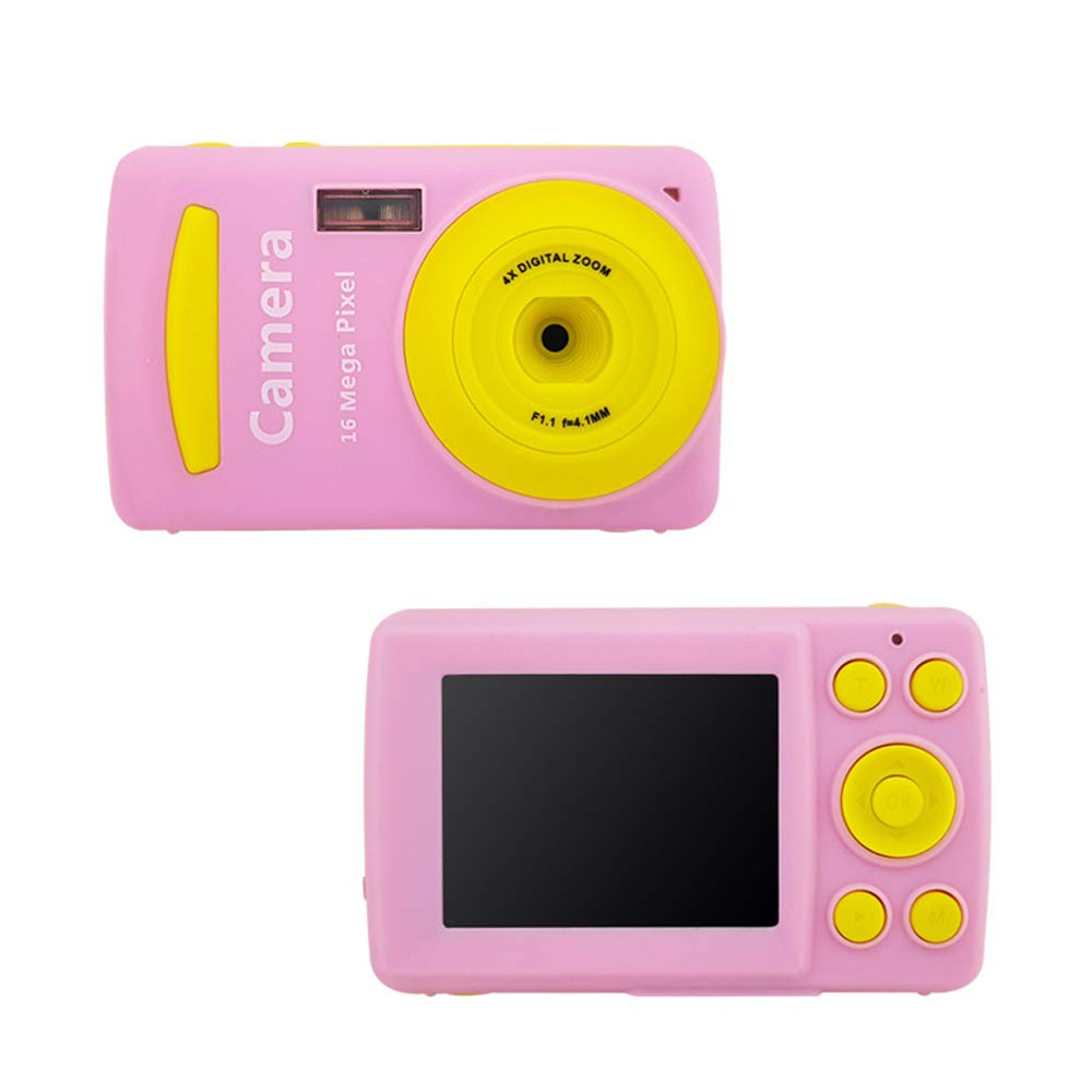 Argonv Mini Child Camcorder Mini Children Digital Camera Video Camcorder Camera for Little Girl Outdoor Play LCD Screen Baby Gift Gold