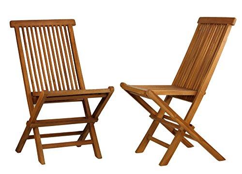 Bare Decor BARE-DC1021 Vega Outdoor Folding Chair, 2, Teak For Sale