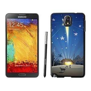 Note 3 Case,Merry Christmas Bright Stars TPU Black Samsung Galaxy Note 3 Cover Case,Note 3 Cover Case