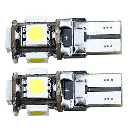 2 CANBUS T10 W5W 194 BOMBILLA LUZ LED 12V 5 SMD COCHE