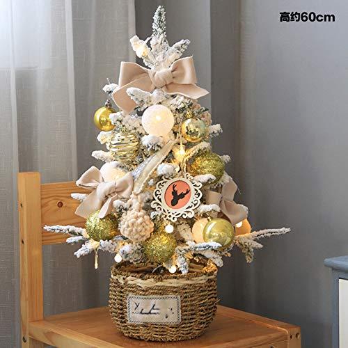 JWDLH Escritorio de Navidad Hecho a Mano Pequeno arbol de Navidad Habitacion Ventana Frente Mini arbol de Navidad Decoracion Adornos